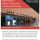 McCutcheon Racial Equity Impact Assessment Community Meetings
